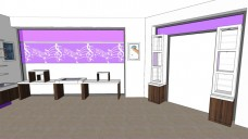 GKA color vitrine violet